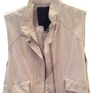 Club Monaco leather vest